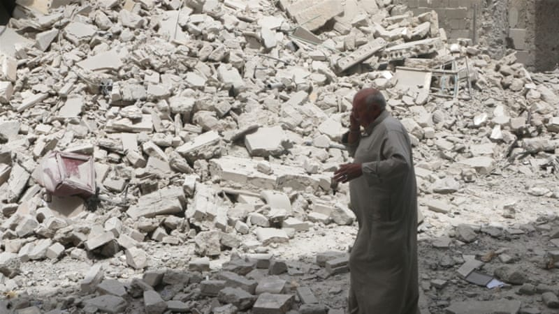 Air raids destroyed a 5th century Church in Daret Azza village, said activists [Reuters/FILE]