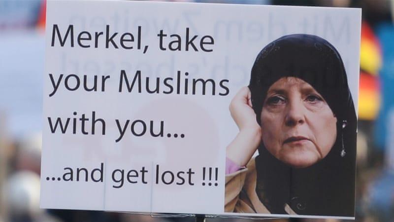 Image result for merkel muslims