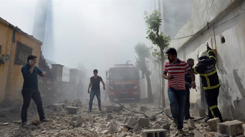 More than 20 people have been killed in rocket attacks on Kilis this year [AP]