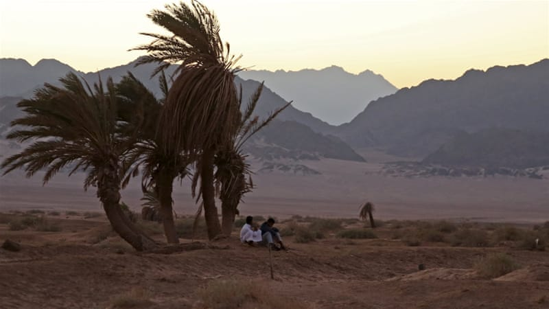 Members of Bedouin tribe of Muzeina, from South Sinai, rest from their fishing trip, in Girgana village at Nabq area, north of the Red Sea resort of Sharm el-Sheikh, Egypt. [Reuters]