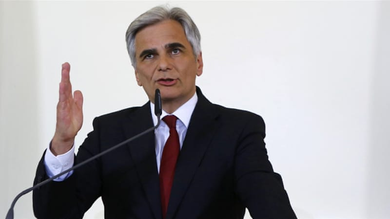 Faymann had been under pressure from trade unionists and the youth wing of his party [Reuters]