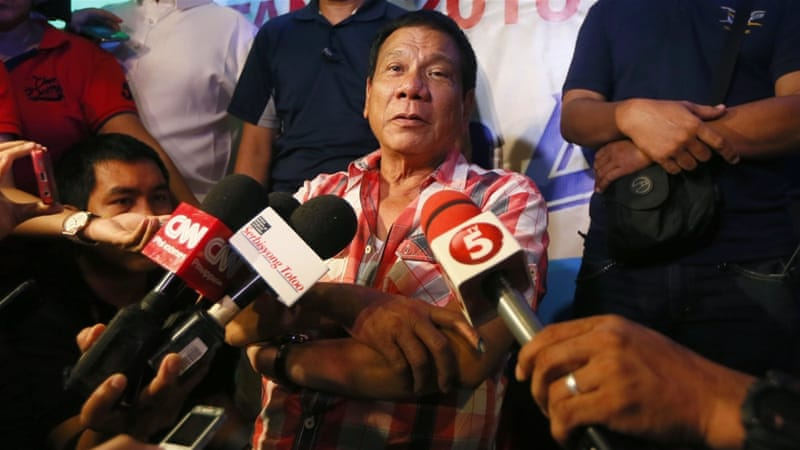 Duterte has been compared with US presidential candidate Donald Trump for his views [AP]