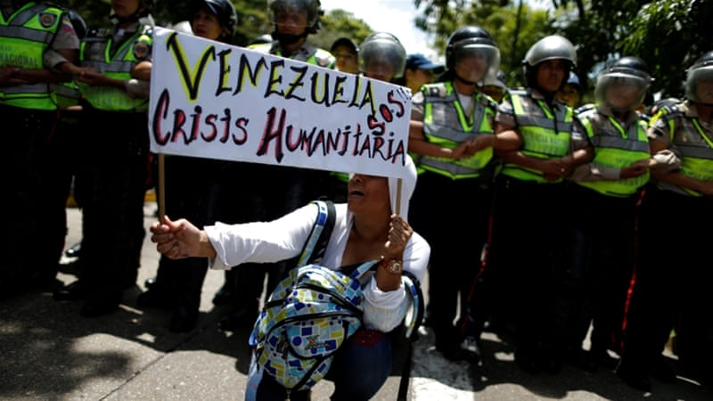 A rally to demand an increase in university funding and against Maduro's government in Caracas, Venezuela [Reuters]