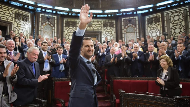 Assad's insulation from actions carried out in his name are increased by the notion of him being a dictator who cannot dictate, writes Denselow [EPA]
