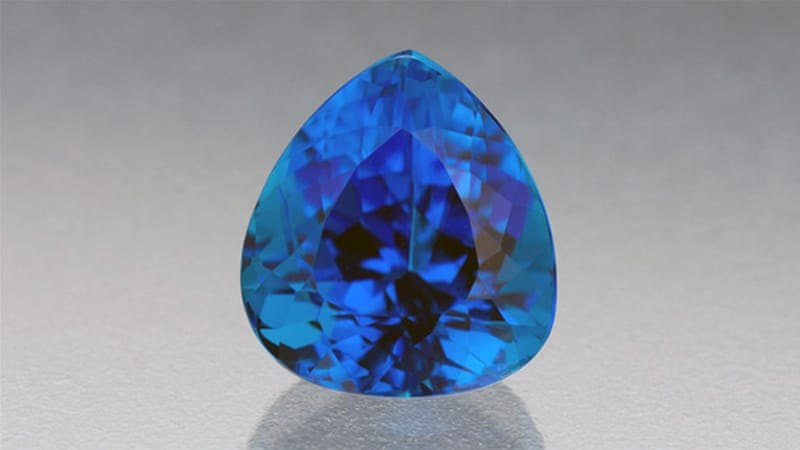 A 3.28-carat Paraiba tourmaline gemstone [Courtesy: GIA]