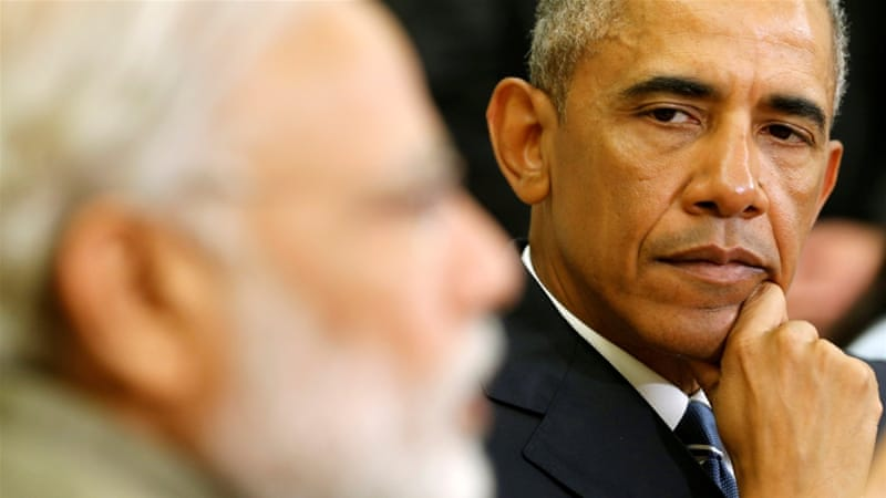 Obama listens to remarks by Modi in the Oval Office at the White House in Washington, DC [Reuters]