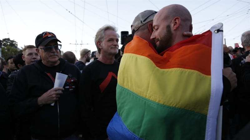 Vigils have been held across the United States after the worst mass shooting in the country's history at a gay club [John G Mabanglo/EPA]