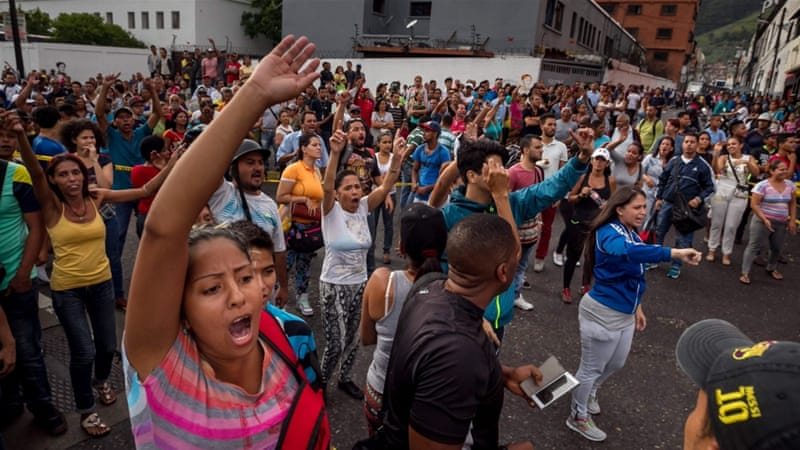 Venezuela has faced protests and mass looting over food shortages [EPA]
