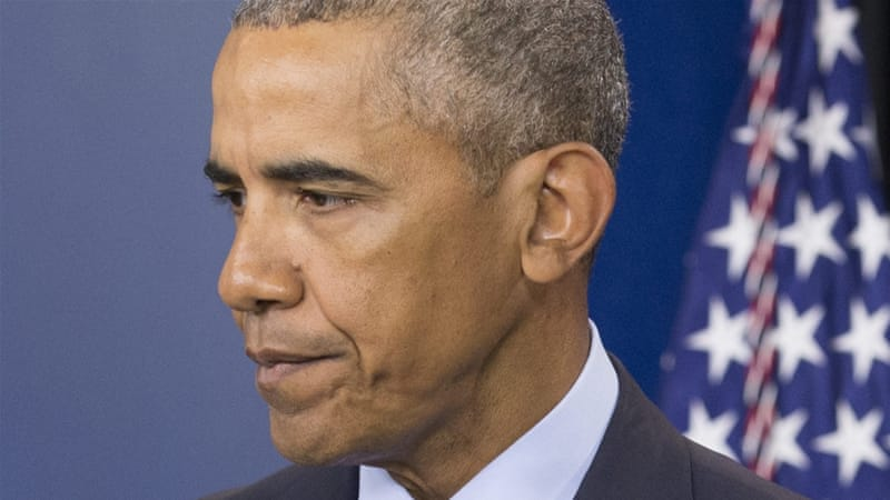 Obama says the status quo of gun control 'doesn't make sense' [EPA]