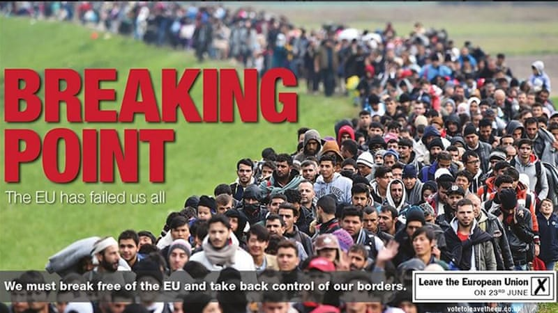 Brexit: UKIP's 'unethical' anti-immigration poster | UK | Al Jazeera