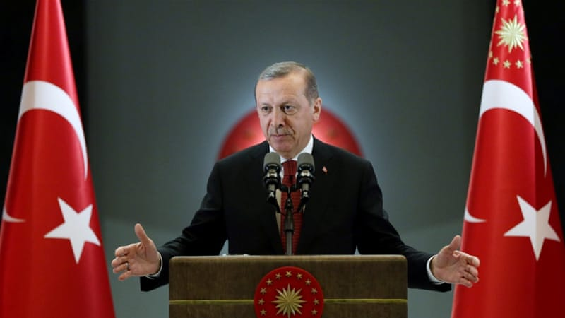 Turkish President Tayyip Erdogan makes a speech during an iftar event in Ankara, Turkey [Reuters]