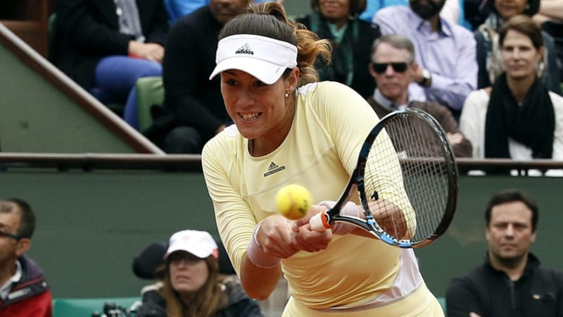 Muguruza won 14 consecutive sets en route to the final after losing her opening set of the tournament [EPA]