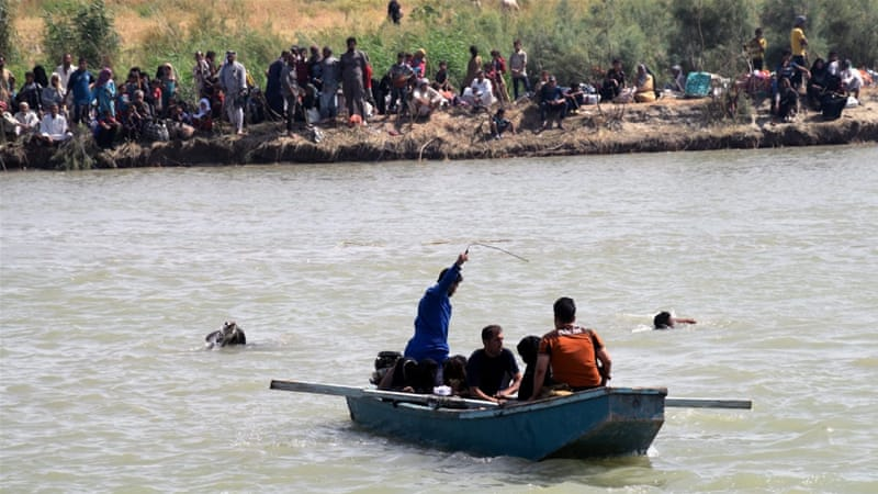 About 50,000 civilians are trapped in Fallujah [EPA]