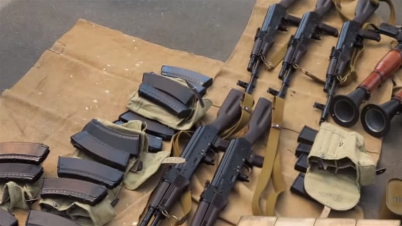The man managed to obtain 125kg of TNT, five assault rifles, two anti-tank grenade launchers and ammunition [SBU]