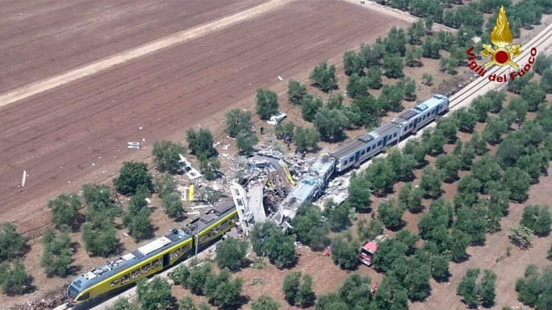 Italy train crash - at least 20 dead
