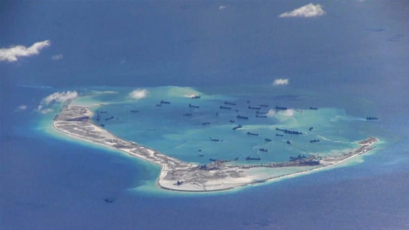 More than $5 trillion worth of trade moves through the South China Sea each year [Reuters]