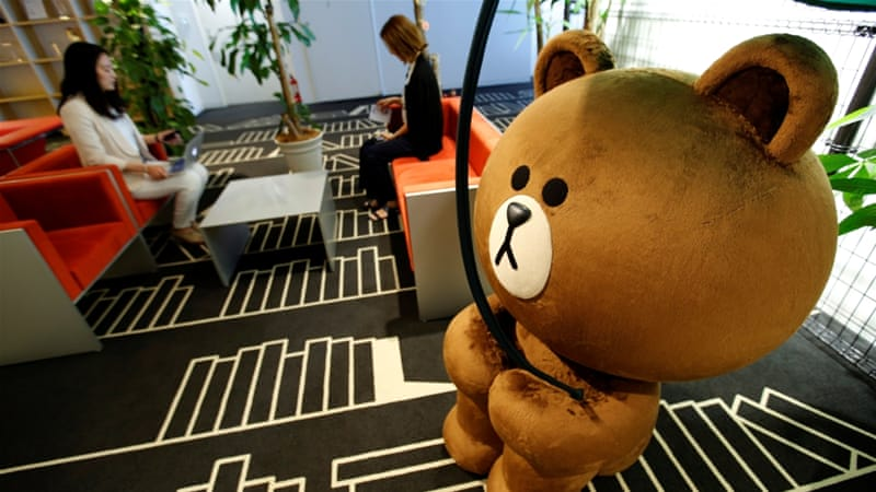 Japanese messaging app operator Line soars in NYSE debut