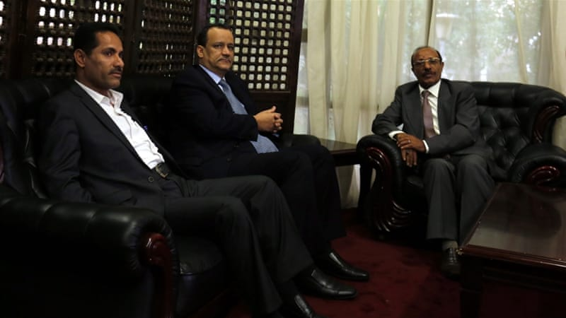 Ismail Ould Cheikh Ahmed, UN special envoy to Yemen, visited Sanaa on Wednesday to push for a resumption of talks [EPA]