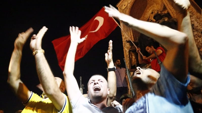 The Turkish nation's historic response to putschists on July 15 is an indubitable manifestation of the harmony of state and society, writes Aktay [EPA]
