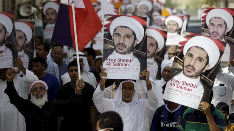 Al-Wefaq's political leader, Sheikh Ali Salman, was sentenced to nine years in prison at the end of May [Reuters]