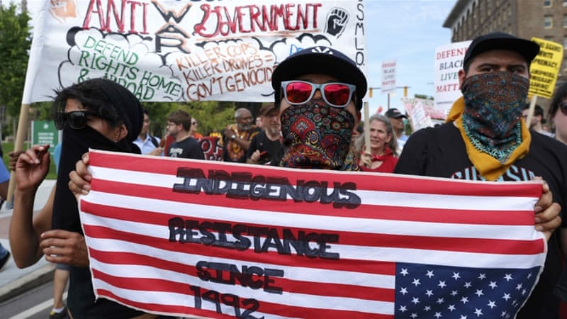 Cleveland: Protesters gather to denounce Trump at RNC ...