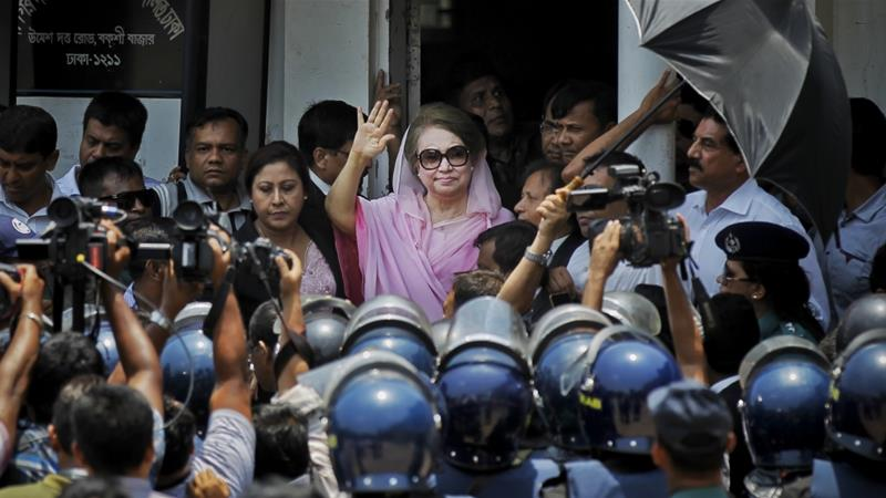 Opposition leader Khaleda Zia has faced many crackdowns from the current government [File: A.M. Ahad/AP]