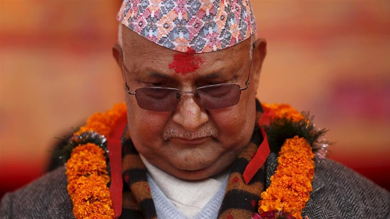 Khadga Prasad Sharma Oli resigns as Nepal's prime minister [File photo: Reuters]
