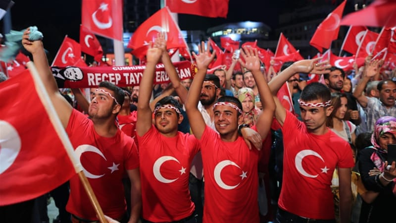 Turks celebrated after the attempted coup, which killed more than 250 people, came to an end [File: EPA]