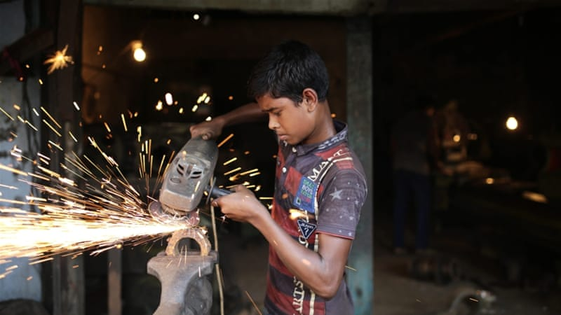 Children under the age of 14 are not allowed to work under Bangladeshi law but child labour is common in the country [File: EPA]