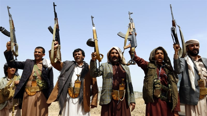 Yemen's Hadi's urged Houthi fighters to surrender their weapons [EPA]