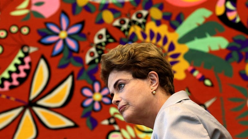 Rousseff's critics blame her for leading Brazil's economy into a recession [Ueslei Marcelino/Reuters]