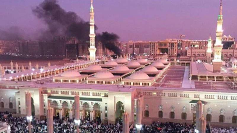 A bombing in Medina killed four Saudi security officers, according to the government [EPA]