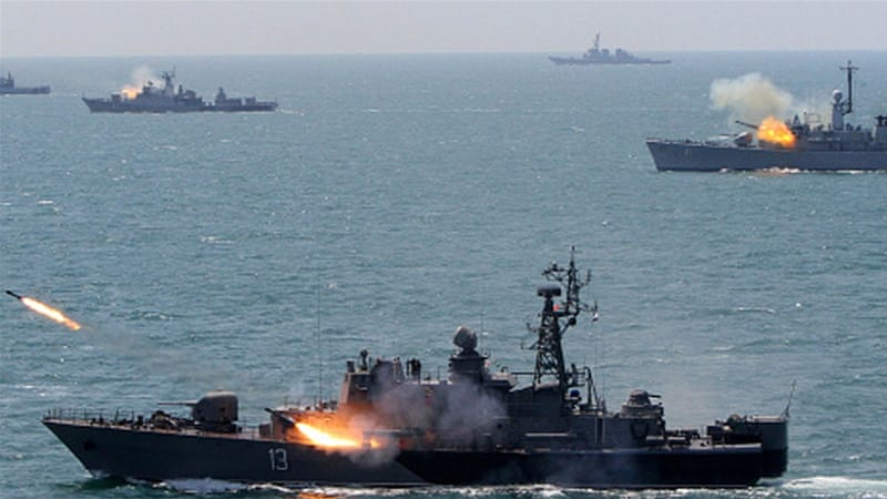 Bulgarian and NATO navy ships take part in a Bulgarian-NATO military navy exercise in the Black Sea, east of Sofia [Getty]