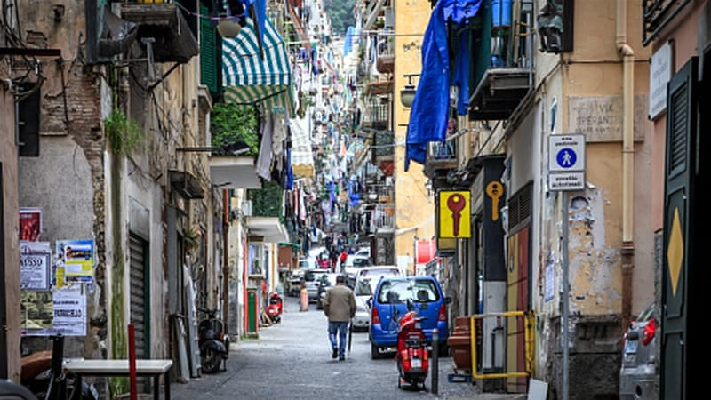 Quartieri Spagnoli in Naples is a poor area, suffering from high unemployment and the strong influence of the Camorra [Getty]