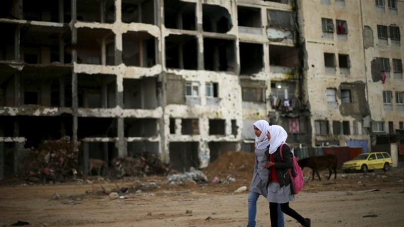 Who is stopping the reconstruction of the Gaza Strip?