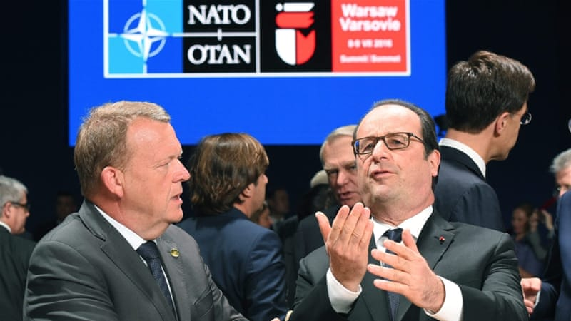 NATO leaders have pledged to support countries struggling against armed groups [Radek Pietruszka/EPA]