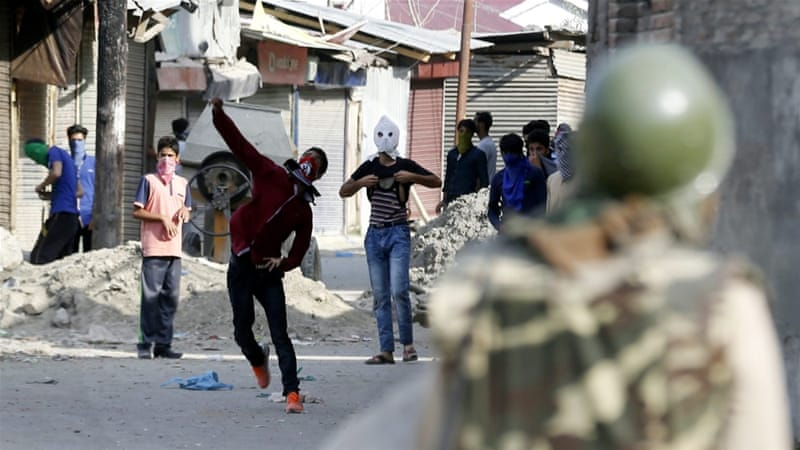 Many parts of Kashmir have seen daily scenes of running battles between protesters and armed forces [EPA]