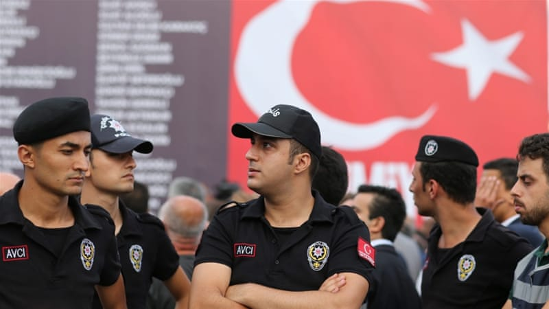 Around 26,000 people have been detained or arrested, mostly from the military, on suspicion of being involved in the failed coup [EPA]