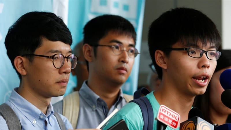 The defendants rejected the charges against them as 'political persecution' [Bobby Yip/Reuters]