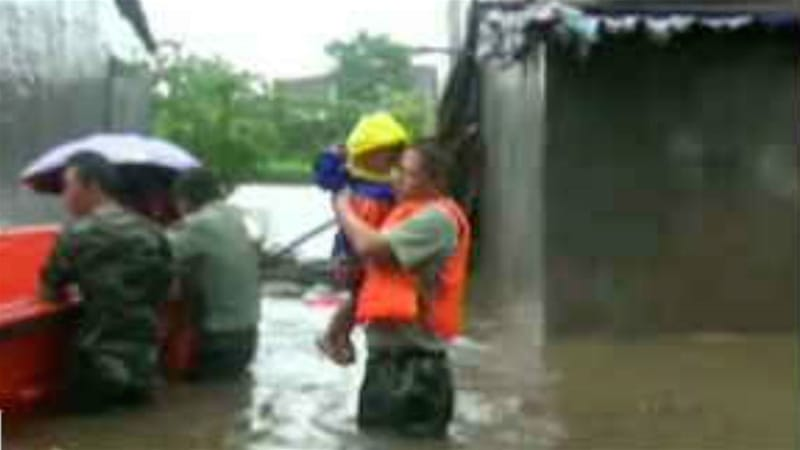The storm has already caused flooding on the Chinese island of Hainan. [Reuters]