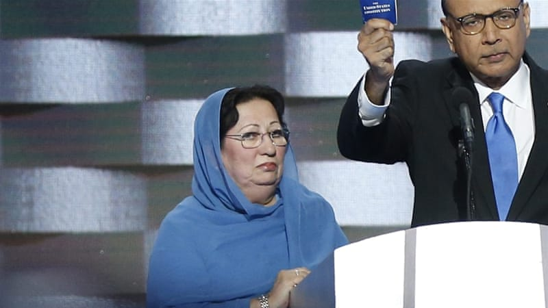 Trump's remarks are an insult not just to Ghazala Khan but also to the millions of Muslim women around the world bravely fighting for their rights every day, writes Diab [EPA]