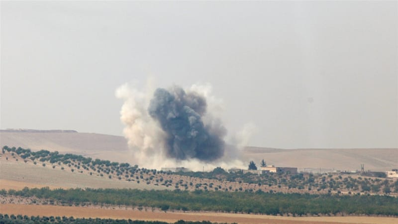 The latest fighting marks an escalation since rebels backed by Turkish troops began a cross-border operation on August 24 [File: Reuters]