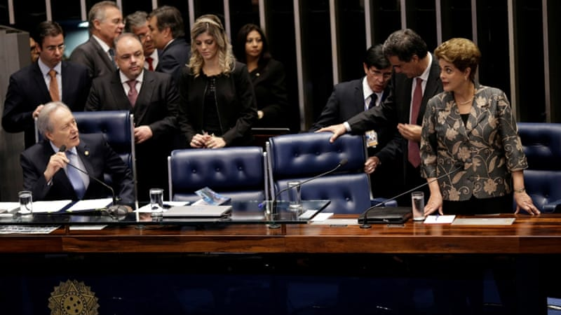 Brazil's Rousseff defends self ahead of Senate's ouster vote