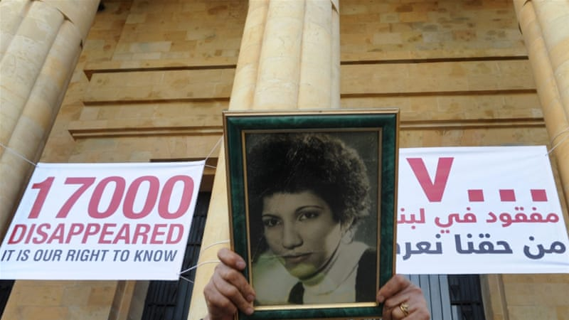 Thousands of Lebanese families still find it hard to cope with the pain of missing loved ones who disappeared during civil war time [EPA]