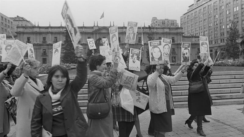 Chilean women protest against the disappeared in the 1980s [Getty]