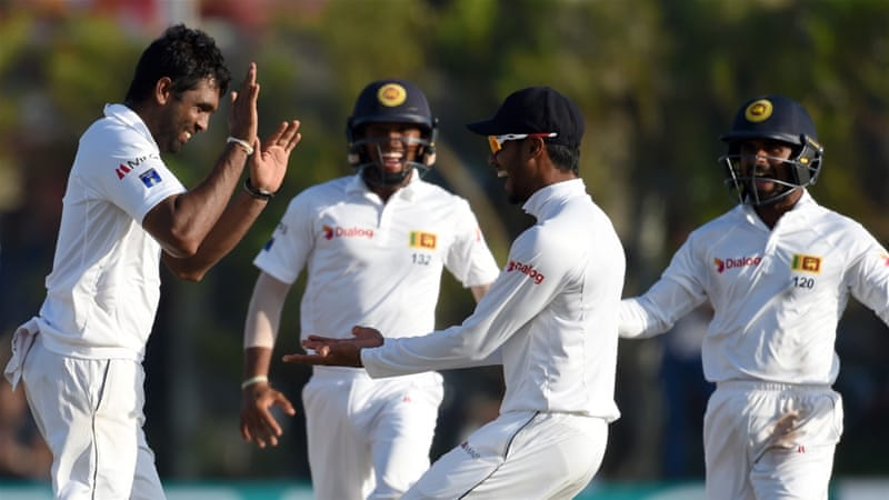 Perera, left, was named man of the match for his all-round performance in the second Test [AFP]