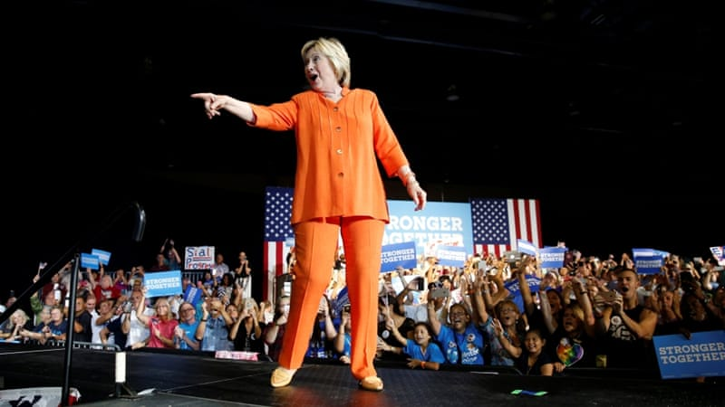 Hillary Clinton has recently surged in the polls following a series of gaffes by Donald Trump [Reuters]