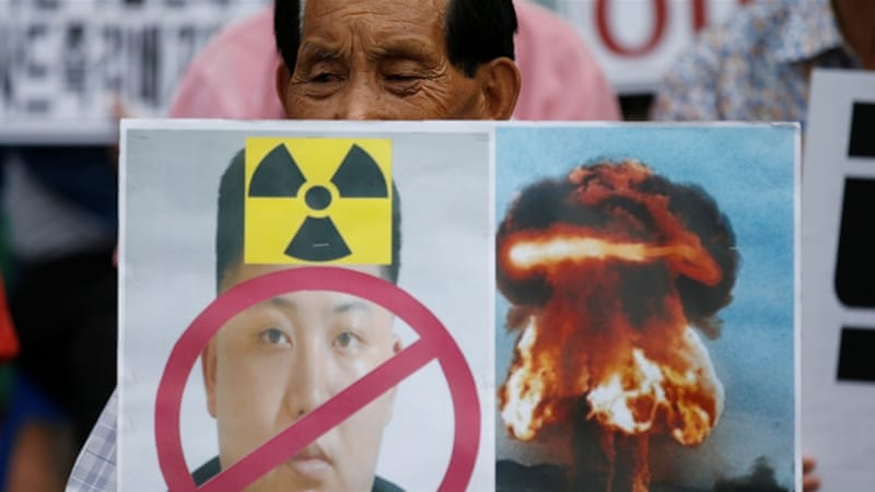 Protesters in central Seoul rallied against North Korea's nuclear testing [Kim Hong-Ji/Reuters]