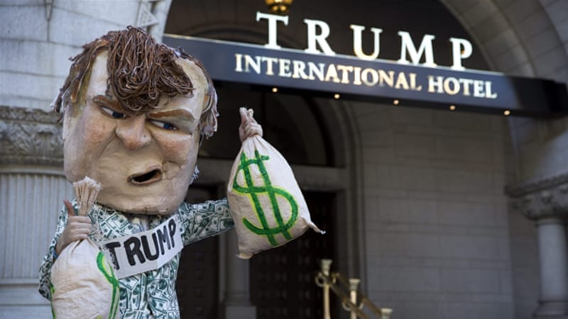 Trump owns a Florida home as well as resorts and golf courses in the state [Shawn Thew/EPA]