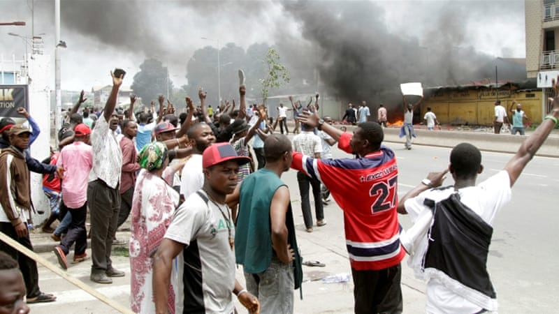 File: Anti-government protesters marched through Kinshasa on Monday demanding President Joseph Kabila step down [Reuters]